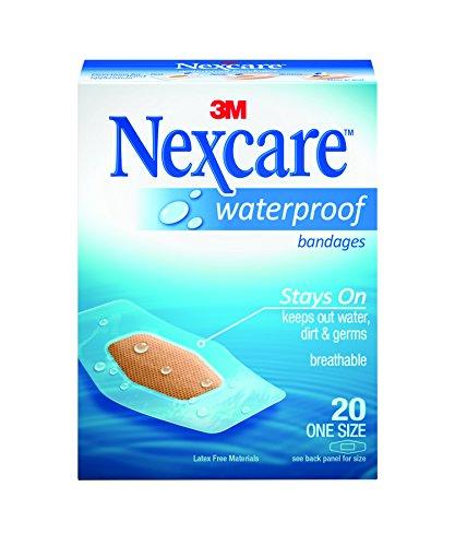 Nexcare Waterproof Bandages, Family Pack, 20 Bandages, One Size