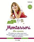 Montessori. Los números: 10 tarjetas con relieve para tocar. 9 tarjetas puzle para aprender a contar. 1 libro de actividades