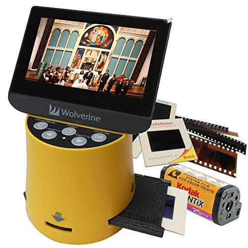 Wolverine Titan 8-in-1 High Resolution Film to Digital Converter with 4.3' Screen and HDMI Output (Yellow)