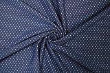 Stoffetraum Jersey 'Pünktchen' königsblau/Hellblau 0,5m