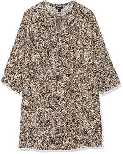 New Look Damen T DOT Animal LS TIE NK Tunic Hemd, Braun (Brown Pattern 29), 38