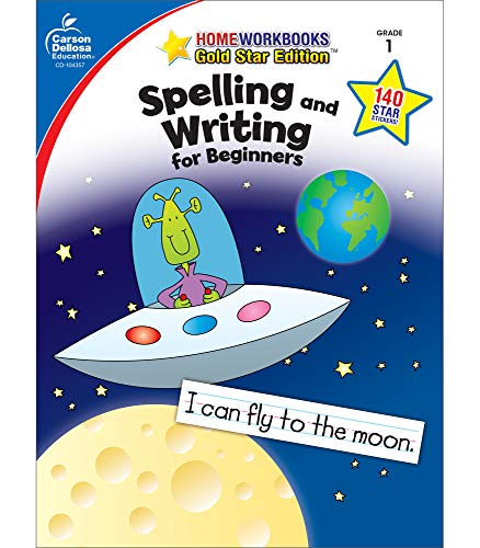 Carson Dellosa | Spelling and Writing for Beginners Workbook | 1st Grade, 64pgs (Home Workbooks)