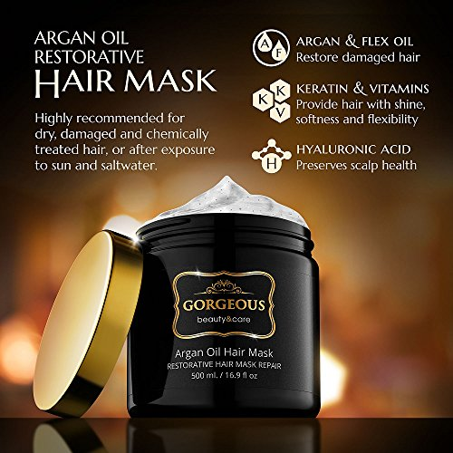 Hydrating Argan Oil Hair Mask and Deep Conditioner By Gorgeous for Dry or Damage
