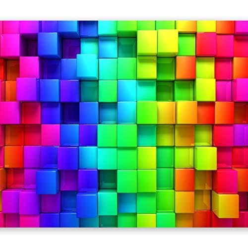 murando Fototapete Kubus 350x256 cm Vlies Tapeten Wandtapete XXL Moderne Wanddeko Design Wand Dekoration Wohnzimmer Schlafzimmer Büro Flur 3D f-A-0350-a-a