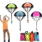 4 Pezzi Paracadute Giocattolo,Paracadute Giochi, paracadute gioco per bambini,Giocattoli c...