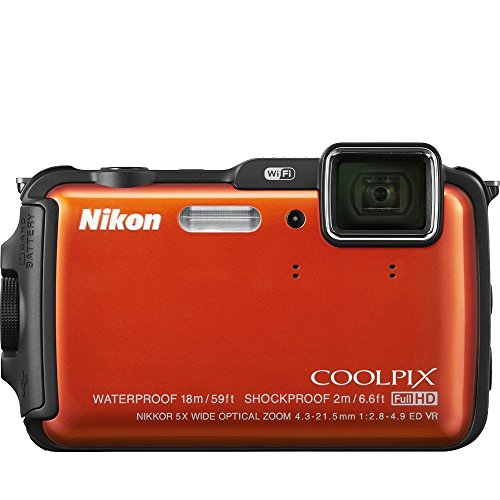 Nikon Coolpix AW110 Shock & Waterproof GPS Digital Camera (Orange) (Renewed)