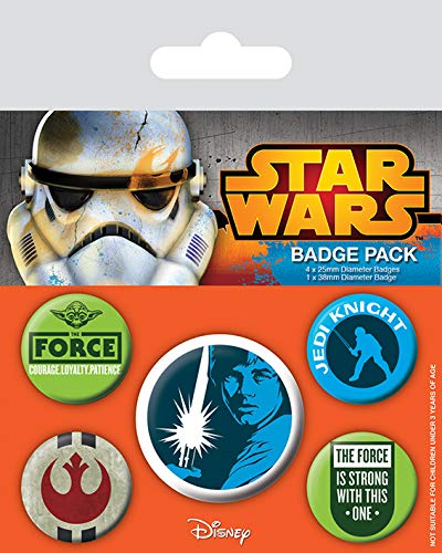 Pyramid International BP80454 Badge Star Wars (Jedi) 10 x 12,5 cm, Multicolore, 10 x 12,5 x 1,3 cm