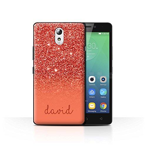 Personalisiert Hülle Für Lenovo Vibe P1m Persönlich Glitter Effekt Rot Design Transparent Ultra Dünn Klar Hart Schutz Handyhülle Hülle