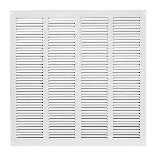 Griglia di ventilazione in metallo, 400 x 400 mm, colore: bianco