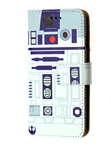 Star Wars iPhone 8 Plus Wallet Case, IMAGITOUCH Folio Flip PU Leather Wallet Case with Kickstand Wrist Strap and Card Slots for iPhone 8 Plus- Slim Book Star Wars R2D2 Wallet