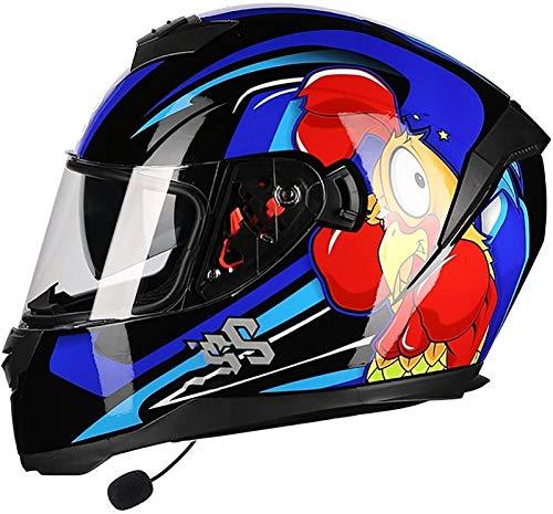 Bluetooth Casco De Moto Modular, Adultos Casco Integral Protector,Micrófono Incorporado Para Auriculares Auriculares Para Respuesta Automática,ECE Homologadohelmet 6,L(59~60cm)