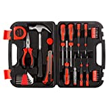 33 Piece Tool Kit with Carrying Case-Heat Treated Steel Essential Basic Repair Handtool Set for DIY, Apartments, Dorms, and Homeowners by Stalwart