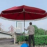 FACAI Sombrillas Terraza Hosteleria Sombrillas Terraza con Pie Pie Sombrillas Terraza Sombrillas Terraza Pequeña,Red-3.4m
