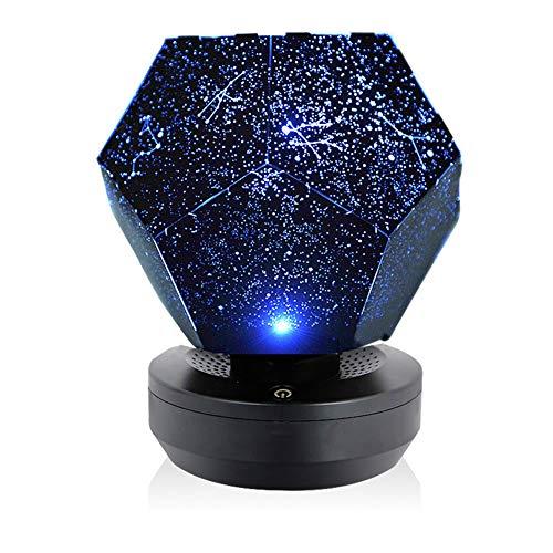 WRJ Starry Sky Projection, Lampe USB Aufladbare Dodekaeder DIY Wissenschaft Cosmos Romantische Projektor-Nachtlicht 3 Modi Constellation Galaxy Lampe,1