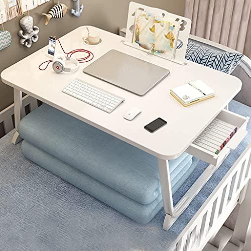 AWJ Escritorio para computadora portátil,Mesa de Cama Plegable,Escritorio depie con Ranura para...