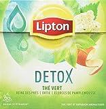 Lipton Thé Vert Detox, Reine des Prés Ortie et Ecorces de Pamplemousse, 20 Sachets