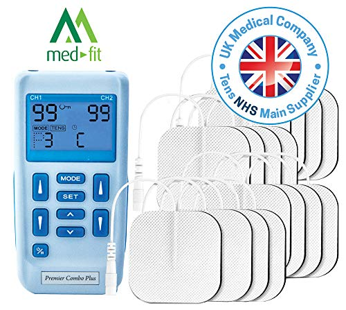 Premier TENS Machine by Med-Fit, Fully Rechargeable Dual Channel Tens...