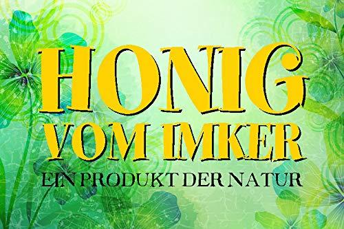 FS honing van Imker een product van de natuur metalen bord bordje gewelfd Metal Sign 20 x 30 cm