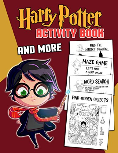 Harry Potter Activity Book: A Fascinating Book With Harry Potter Images And Fun Activities For Relaxation And Stress Relief