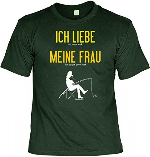 T-Shirt Funshirt - Ich liebe es wenn meine Frau mich angeln lässt - witziges Spruchshirt als Geschenk für den Angler