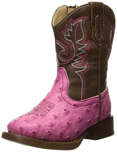 Roper Girl's Cowboy Cool Western Boot, Pink, 8 M US Toddler