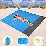 Mumu Sugar Sand Free Beach Mat, Quick Drying Portable Compact Lightweight Beach Mat - Water/Heat Resistant–Sand Proof Outdoor Beach Blanket for Travel, Camping, Hiking and Music Festivals (82''×79'')