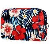 Cosmetic Bag for Women,Roomy Makeup Bags,Big Red Flower,Travel Waterproof Toiletry Bag Accessories Organizer
