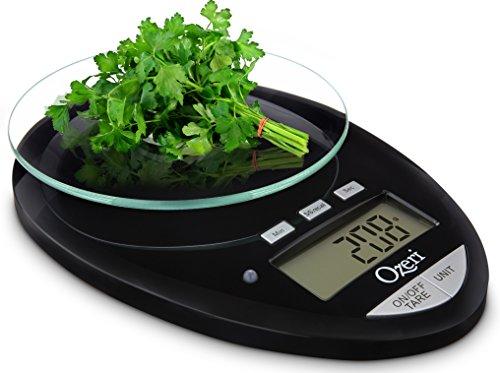 Ozeri Pro II báscula de cocina Digital, 1g a 12 lbs/5,5 kg capacidad, con cuenta regresiva del temporizador de cocina
