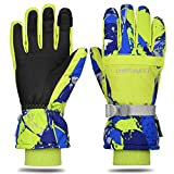 Yobenki Ski Gloves, Winter Waterproof Snow Gloves Non-Slip Breathable Cold Weather Gloves for Mens, Womens, Ladies and Kids Skiing,Snowboarding