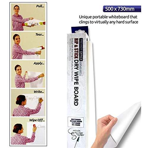 Premier Stationery W2117208 whiteboard-rol, 50 x 73 cm