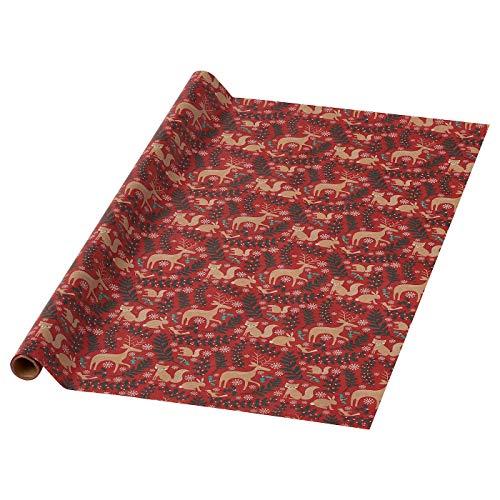 My- Stylo Collection Geschenkpapier Rolle Weihnachtsmotive Produktgröße: Länge: 3,0 m Breite: 0,7 m Fläche: 3,50 m² Verpackungsmenge: 1 Packung Gesamtlänge: 3 m Materialien: Papier