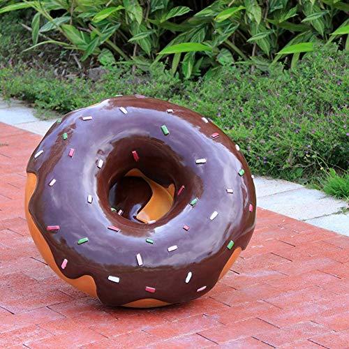 Wunderschön Dekoration Großer Donut, Cartoon Macaron Kunst Ornamente Die Fortschrittsparty Kreative Moderne Statue Skulptur Wohnkultur Für Markt, Getränkehaus Dekor-b 66x24cm