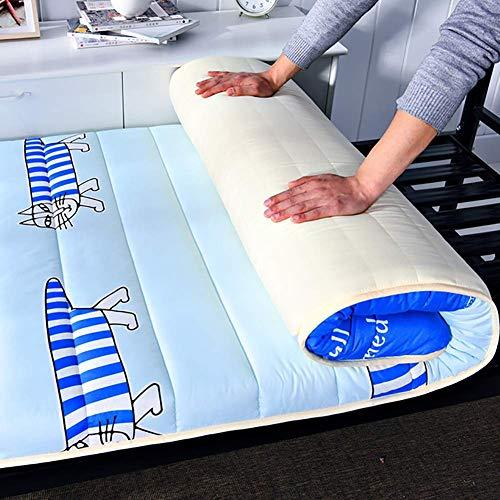 Tatami Bed Ground - Colchón plegable para futón, tamaño más grande, portátil, firmeza estudiante, lavable, colchón para cama futón, 180 x 200 cm
