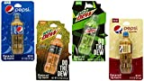 Novelty Soda Bottle Lip Balms (4 Pack) Mountain Dew and Pepsi Flavors