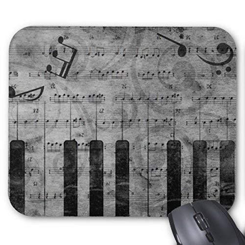 Coole Antike Grunge-Effekt Klavier Musik Noten Mauspad Mausmatte Retro-Muster Einzigartige Computer Mauspad