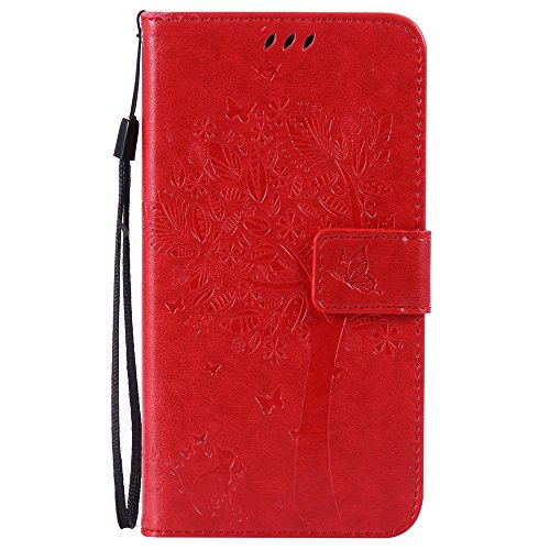 Nancen Compatible with Handyhülle LG G4 / H818 (5,5 Zoll) Flip Schutzhülle Zubehör Lederhülle mit Silikon Back Cover PU Leder Handytasche