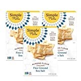 Simple Mills Almond Flour Crackers, Fine Ground Sea Salt, Gluten Free, Flax Seed, Sunflower Seeds,...