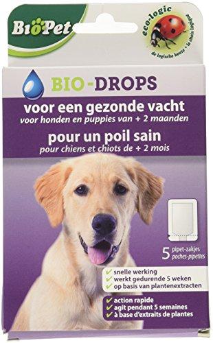 BSI 15122 Biopet Bio-Drops anti-puce sans insecticide pour chiens de 2 mois