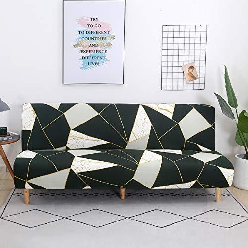TOPCHANCES Funda para sofá cama sin brazos, poliéster y elastano, funda para futón, antideslizante, elástica, plegable, universal, para sofá, cama, funda para muebles (Jane)