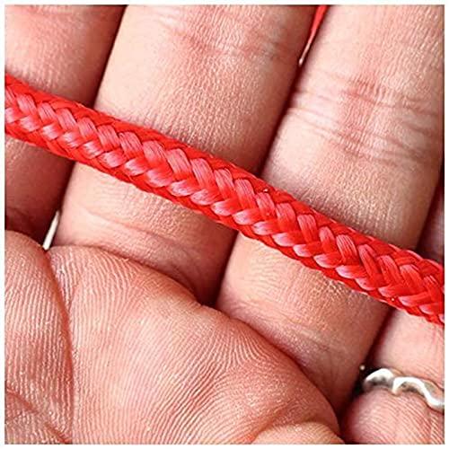 Redes para Balcones Anticaida, Red de Cuerda, Red de Seguridad de Balcón, Grosor de La Cuerda 0.6 Cm, Malla 4cm / 5cm / 6cm / 8cm / 10cm, Portátil y Fácil de Usar(Size:2x2m(6x6ft),Color:Mesh 4m-Red)
