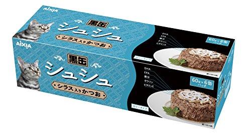 アイシア 黒缶 シュシュ シラス入りかつお 60g×6缶パック