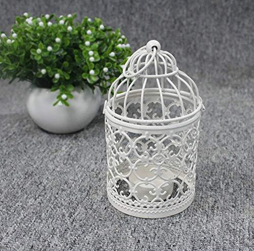 Kerzenhalter | Vogelkäfig, weiß - 5