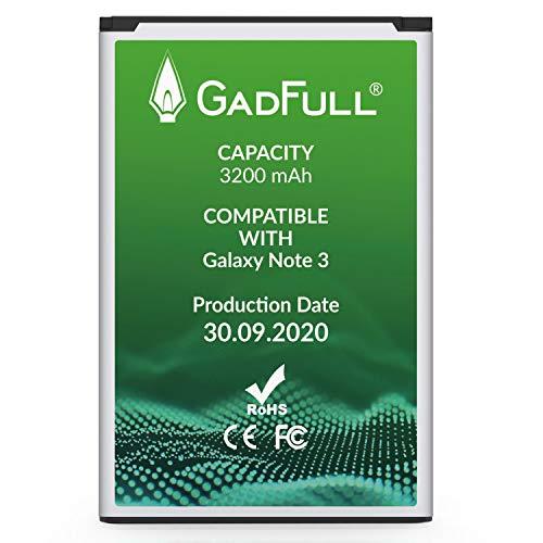 GadFull Akku für Samsung Galaxy Note 3 | 2020 Baujahr | Entspricht dem Original EB-B800BE | Lithium-Ionen-Akku der Modelle GT-N9000 GT-N9005 GT-N 9006 GT-N9009 | Ersatz Handy-Akku für Ihr Smartphone