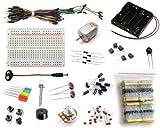 16Hertz Electronics Project Starter Kit w/Breadboard, Jumper Wires, LED, Resistors, Motor for Arduino & Raspberry Pi