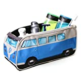Kulturtasche VW Bus Bulli T1 in blau
