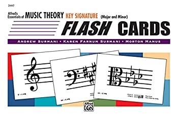 Alfred s Essentials of Music Theory  Key Signature Flash Cards  Major and Minor  Flash Cards