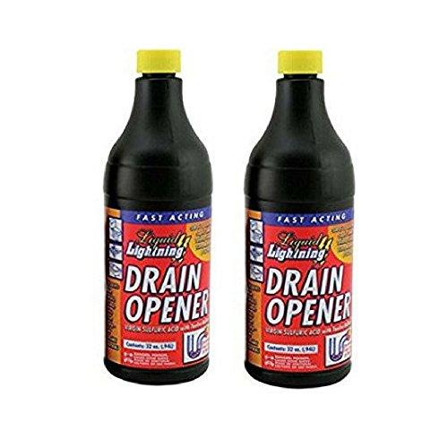 Liquid Lightning Buffered Sulfuric Acid Drain Cleaner, 32 Oz