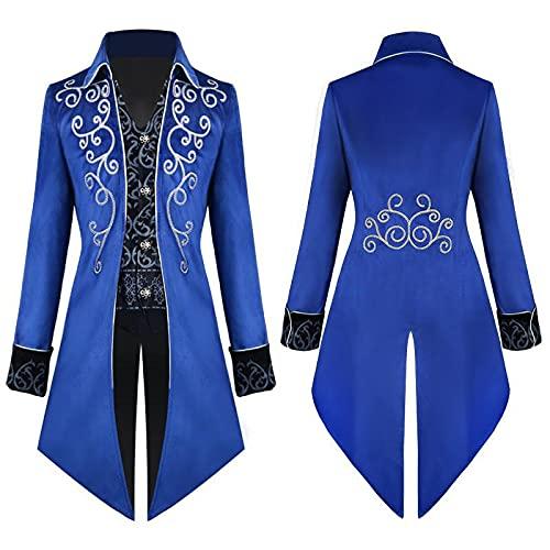 YQSR Vintage Tailcoat - Chaqueta para hombre, diseo gtico victoriano, disfraz para Halloween, estilo gtico
