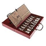 XJS Juego de ajedrez Piezas de ajedrez Chino Antiguo de Madera Juego Juego de Mesa de Ocio Familia Juguetes Chino Ajedrez para niños Adultos