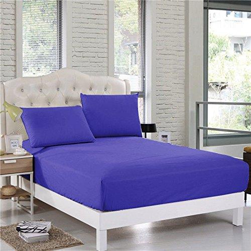 Confort Phalanges 650tc 3PC Drap-Housse 68,6 cm Poche Profonde 100% Coton égyptien Massif, Bleu égyptien, Euro King IKEA